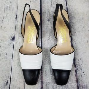 SALVATORE FERRAGAMO | cap toe slingback shoe